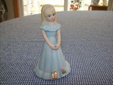 "Vtg 1981 Enesco ""Growing Up Birthday Girls"" Age 10 Porcelain Bisque Figurine"