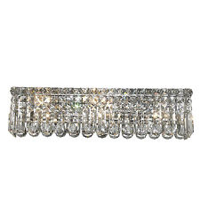 "6-Lights 24'x 6.25"" Apollo Vanity Clear Crystal Wall Sconce Chandelier Light"