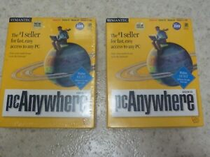 two Symantec pcAnywhere 9.0- Host- CD ver. NEW, FACTORY SEALED, P/N: 07-00-02546