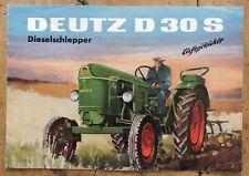 orig. Prospekt Deutz D30 S luftgekühlt F2L712 Schlepper 8Seiten 1961 (W1125-3)