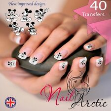 40 x Nail Art Water Transfers Stickers Wraps Decals Mouse