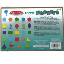 Melissa & Doug 25 Wooden Shape Magnets in Wood Storage Tray