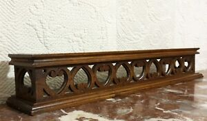 Amour love walnut carving shelf pediment Antique french architectural salvage