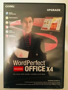 Corel WordPerfect Professional Office X4 Upgrade (PC CD-ROM Software) Quattro ++
