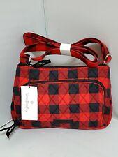 New Vera Bradley RFID Little HIPSTER crossbody bag in TANGO RED BUFFALO CHECK