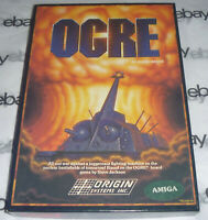 COMPLETE Commodore Amiga OGRE Big Box Game 1986 disk Steve Jackson meuse w/ clip