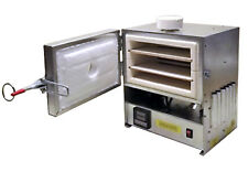 115V-240V ELECTRICAL KILN 1000C / 1832F + 2 SHELVES + QUARTZ WINDOW + CALIBRATED