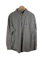 Mens Columbia Sportswear XCO Grey Checked Long Sleeve Casual Shirt Size XL
