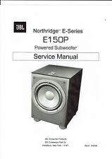 JBL  service manual  für E150 P Northridge powered subwoofer  Copy