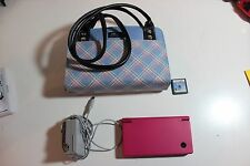 Nintendo DSI System Pink with purse case cord and game lot