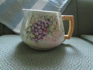 Limoges signed hand painted pitcher