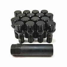 16x Excalibur 98-0371LBK Lug Bolts 14x1.50 7-Point Tuner/Spline Black 30mm