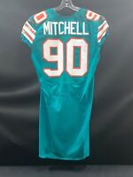 #90 EARL MITCHELL MIAMI DOLPHINS GAME USED THROWBACK NIKE JERSEY YEAR 2016