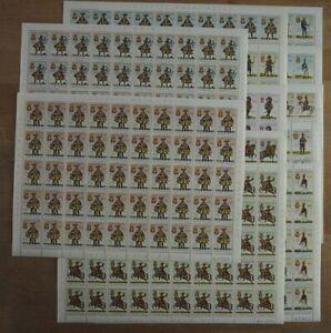 1966 Angola; 50 Serien Uniformen, MiNr. 525/36, postfrisch/MNH, ME 400,-