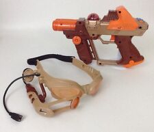 2004 Tiger Electronics Orange Lazer Tag Team Ops Laser REPLACEMENT Gun & Glasses