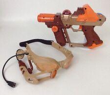 2004 Tiger Electronics Orange Lazer Tag Team Ops Laser REPLACEMENT Gun & Glasses