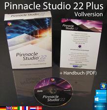 Pinnacle Studio 22 Plus Vollversion Box + DVD HD Videosoftware +Handbuch OVP NEU