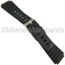 20mm Timex Black Rubber Mens Marine Gear Sport Watch Band TX20G2
