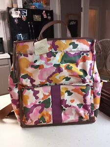 Fossil Jenna Backpack Pink Floral Bag New with tags Womens