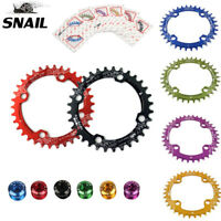 SNAIL 104BCD 32-42T MTB Bike Chainring + Bolts Narrow Wide Single Speed Sprocket