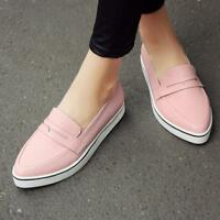 New Fashion Womens Flats Pumps Shoes Casual Sports Sneakers Driving Loafers Size