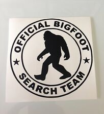 Bigfoot Official Search Team Vinyl Decal Squatch Sasquatch Hunting