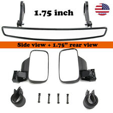 "1.75"" Side & Rear View Mirrors Set For UTV Polaris Ranger RZR 570 800 XP900 1000"