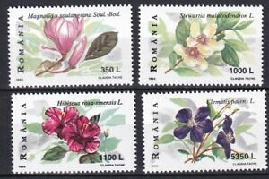 Romania 1999 Flowers 4 MNH stamps