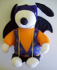 "Charlie Brown Snoopy Halloween Bat Costume 6"" Nylon Plush Stuffed Animal Toy"