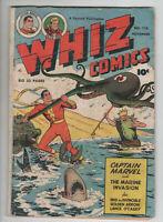 Whiz Comics 115 Fawcett 1949 VG Captain Marvel Shazam Shark Octopus