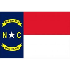 North Carolina State flag Banner Sign 3' x 5 Foot  Polyester With Grommets