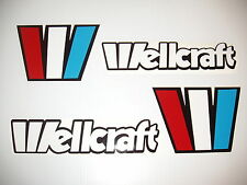 15 inch WELLCRAFT BOATS Marine Viny This set the  W - 4 x 5.5 SET  4 decals