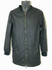 Mossimo Youth/Boys Full Zip Black Canvas Feel Jacket! Long. 2 Pkt. Lined. Sz 16