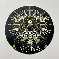 Vans Skulls Clothing Brand Sticker Original Promotional 3.5 Inches BRAND NEW
