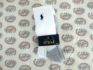 New ~ Polo Ralph Lauren Big Boy's 3 Pairs Socks  Sz 9 - 11