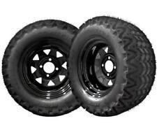 "BLACK FRIDAY Black Golf Cart 12"" Wheels w/ 23"" Lifted Golf Cart Tires - Set/4"
