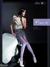 Fiore PLUM shiny tights Raula 40 den LARGE size satin gloss pantyhose