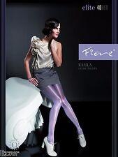 Fiore GREY shiny tights Raula 40 den LARGE size satin gloss pantyhose