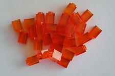 30 Lego Bausteine 1x1 transparent orange NEU 3005 Basic Steine Grundsteine