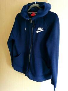 Mens Nike Blue Zip Up Hoodie Size M