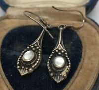 Vintage Sterling Silver Earrings 925 Dangle Drop