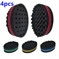 Discreet Double Sided Barber Hair Brush Sponge Dreads Locking Twist Coil Afro Curl Wave Cleaning Appliance Parts