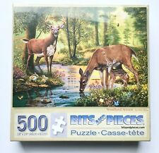 New & Sealed Bits and Pieces Woodland Stream 500 Piece Jigsaw Puzzle Deer