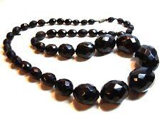 Amber Bakelite Large Bead Necklace 62.1g New listing Antique Art Deco Dark Cherry