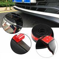 USA 8 Ft Universal PU Rubber Front Bumper Lip Add On Body Kit Splitter Black