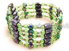 """SALE Round 6mm Black Cloisonne Hematite Magnetic Bead 30"""" Necklace/Bracelet-b280"""