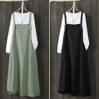 Women Overalls Basic Summer Casual Dress Strappy Maxi Skirts Dress Plus Size