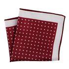 Pocket Square Handkerchief Polka Dot Paisley Style Soft Hanky Mens Chest Towel