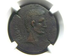 Roman AE As of Emperor Augustus, 15 BC Moneyer Surdinus NGC Ch F 0011
