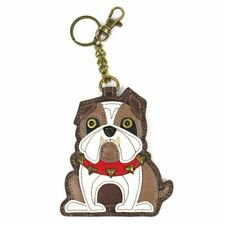 New Chala Purse Bag Charm Clip On Key Ring FOB Coin Purse  BULLDOG Dog gift